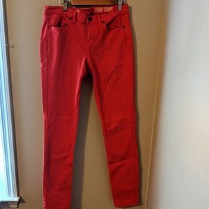 Madewell skinny red jeans 27x32
